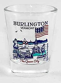Burlington Vermont Great American Cities Collection Shot Glass
