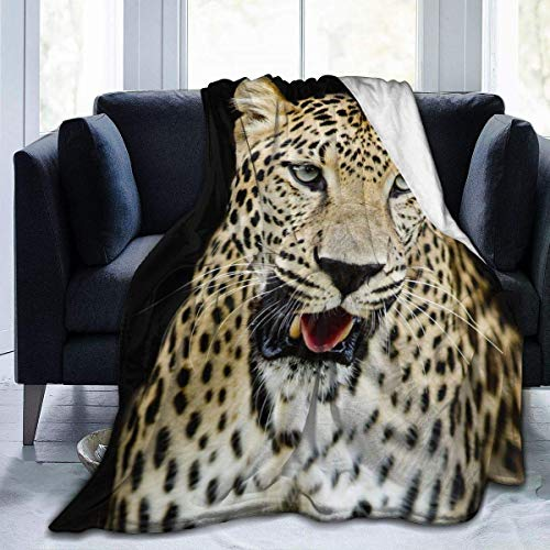 Fansu Kuscheldecke Flanell Decke, 3D Drucken Microfaser Flauschig Weich Warm Plüsch Wohndecke Fleece Tagesdecke Decke für Sofa & Bett (Leopard,150x200cm)