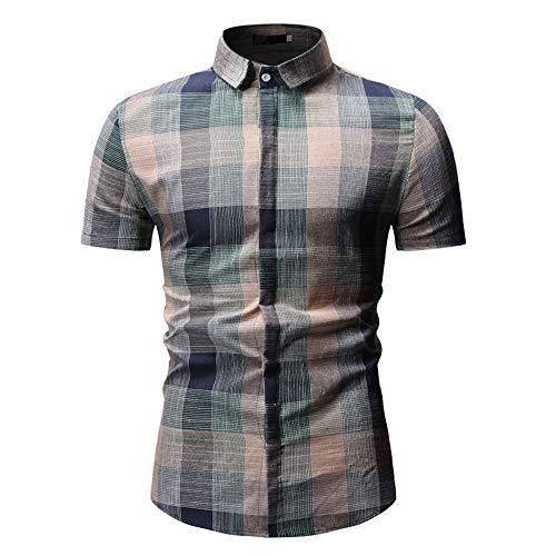 Camisa de manga corta casual de verano de los nuevos hombres