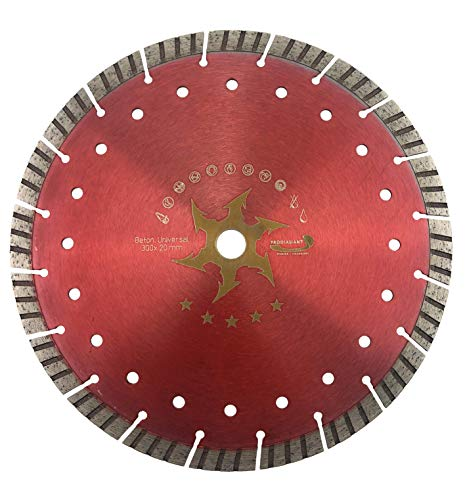 PRODIAMANT Premium diamantdoorslijpschijf beton turbo 300 mm x 20 mm diamantdoorslijpschijf 300 mm CONCAVE-TURBO beton/universeel