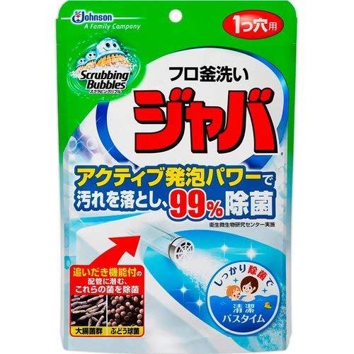 ジョンソン スクラビングバブル フロ釜洗い ジャバ 1つ穴用 160g ×24個セット  (お風呂用洗剤・24時間風呂の配管洗浄)