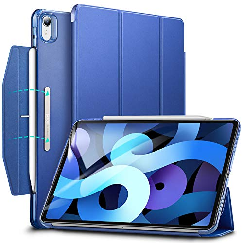 ESR Trifold Case for iPad Air 4 2020 10.9 Inch [Trifold Smart Case] [Auto Sleep/Wake Cover] [Stand Case with Clasp] Ascend Series - Navy Blue