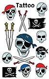 AVERY Zweckform 56632 Tattoo Kinder 13 Stück (Temporäre Tattoos Totenköpfe, Kinder Tattoo...