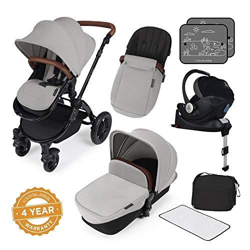 Ickle Bubba Stroller Stomp V3 iSize All-in-One iSize Baby Travel System | Car Seat w/ Isofix Base,...