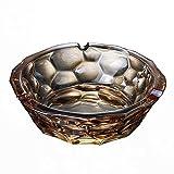 ZfgG - Cigarra de cristal, pinch cenicero, decorativo, cenicero vintage, diseño colorido, oficina, bella, artesanía, color C)