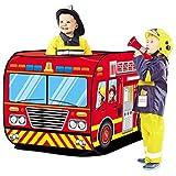 OTentW Spiel Haus Spielen Zelt Feuer LKW Polizei Bus Faltbare Pop Up Spielzeug Spielhaus Tuch Kinder...