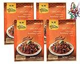 yoaxia ® - 4er Pack - ASIAN HOME GOURMET Würzpaste für Indonesisches Rendang-Currygericht Gulai + ein kleines Glückspüppchen - Holzpüppchen