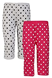 SINIMINI Girls Cute Colorful Capri (Pack of 2)