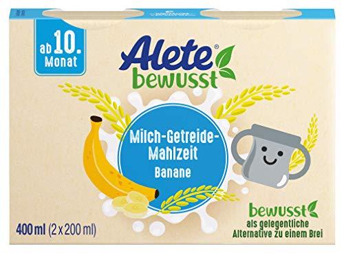 Alete bewusst Milch-Getreide-Mahlzeit Banane, ab dem 10. Monat, 400 ml