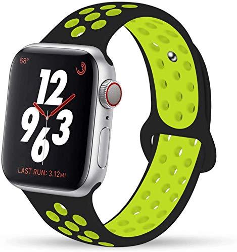 Vikatech - Cinturino sportivo di ricambio per Apple Watch, 44 mm, 42 mm, 40 mm, 38 mm, in morbido silicone traspirante, per iWatch Serie 5/4/3/2/1, 42mm/44mm M/L