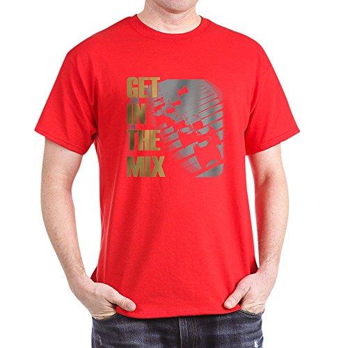 """CafePress T-Shirt aus 100 {856437a06b3c105c552a95e5a738c2e3db55c3fb97a03326f5f537018087f985} Baumwolle mit Aufschrift \""""Get In The Mix\"""" Gr. M, rot"""