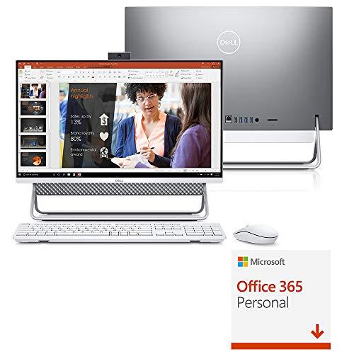 Computador All in One Dell Inspiron 5490-M10F 10 Gerao Intel Core i5 12GB 1TB 23.8' Touch Windows 10 Prata Office 365