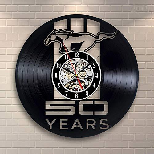 Yvonnezhang Decoratieve wandklok Mercedes Totem zwart vinyl record klok creatieve muur kunst decoratieve wandklok persoonlijkheid wandklok