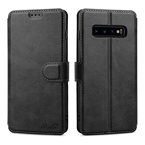 Keallce für Samsung Galaxy S10 Plus/Samsung Galaxy S10+ Hülle, Handy Lederhülle PU Leder Hülle Brieftasche Handytasche Cover Kompatibel für Samsung Galaxy S10 Plus/S10+ Ledertasche-6.4