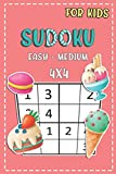 Sudoku For Kids Easy - Medium 4x4: Fun And Challenging Activity Book For Kids Ages 4-8 (Sudoku Books for Kids)