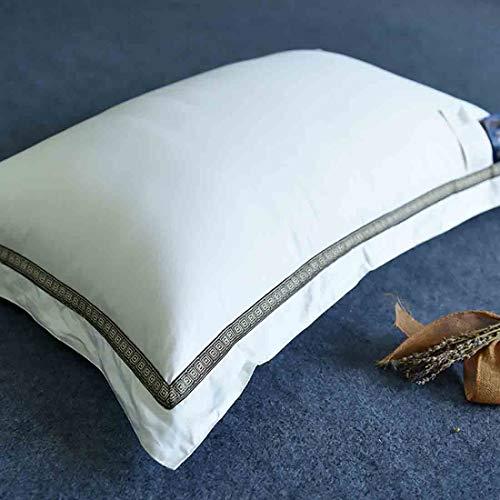 Donzen Slaapkussen, Hoogwaardig Natuurlijk Wit Ganzendons Gevuld Comfortabel Bedkussen, Geschikt Voor Familie En Hotel Ademend Volwassen Nekkussen