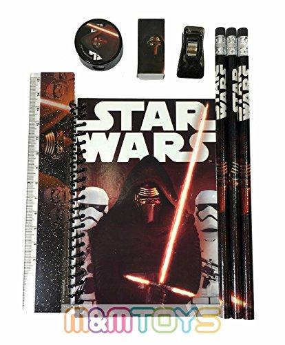 Disney Star Wars Kylos Ren - Kit de papelería 'El despertar de la Fuerza' - Negro