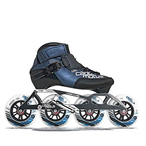 CADOMOTUS Rookie Two Kids Inline Skate 4x100 | 3x110 Race Setup + extra Ankle Support - EU38|US6