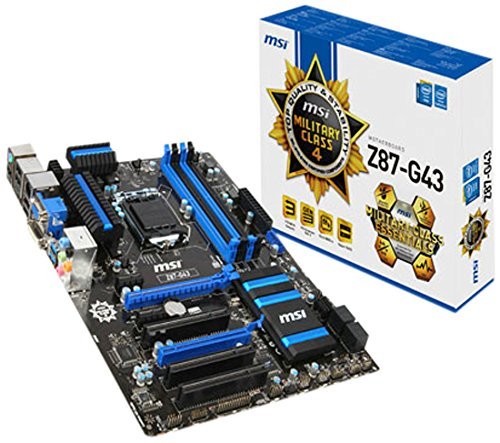 MSI 7816-001R Z87-G43 Intel Z87 Mainboard Sockel LGA 1150 (4x DDR3, Intel HD Graphics, 2x PCI-e, 6x SATA, ATX)