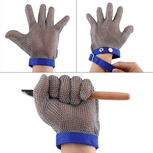 Roestvrij staal anti-gesneden handschoen, snijbestendige handschoen slager bewijs vlees proces veiligheid gereedschap veiligheid werkhandschoen in industriële, bouw, voedselverwerking markten