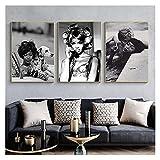 WQHLSH Naomi Campbell Mode Poster Leinwand Wandkunst Drucke