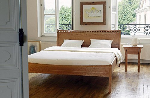 shogazi Schlafkultur Massivholzbett TIATI II - nobles Designerbett - Kirschbaum massiv, Größe:180x200cm