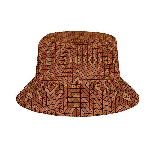 ZAlay Mosaik Dreieck Symmetrie Kaleidoskop Fliesen Fischer Hut Eimer Hut Outdoor Cap für Angeln Strand Wandern
