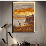 JLFDHR Pawnee Parks National Park Lienzo Pintura Carteles E Impresiones Cuadros De Arte De Pared para Decoración De Sala De Estar-50X70Cmx1 Sin Marco