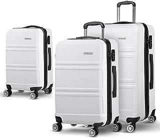 Wanderlite 3 Size Luggage Suitcase Sets-White