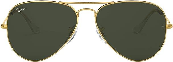 Ray-Ban Men's Large Metal Aviator Sunglasses, Gold, 55 mm