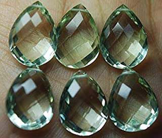 Jewel Beads Natural Beautiful jewellery 2 Match Pair, Super Rare AAA Green Amethyst Faceted Pear Shape Briolettes Calibrated Size,12x20mmCode:- JBB-28831