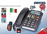 Telefono SalvaLaVita per Anziani con Bracciale SOS Telecomando Pulsante 118...