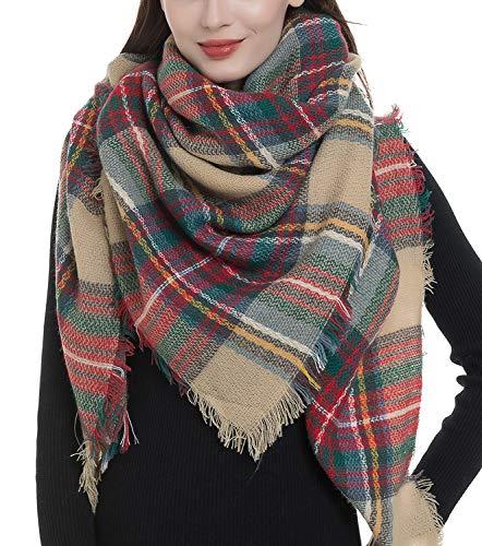 Amazon 时尚女士格纹围巾