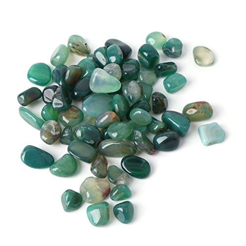 CADANIA Piedra Natural Cristal Ágata Acuario Pecera Decoración Colorido Guijarro Grava - Ágata Verde