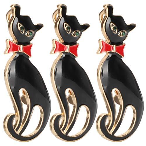 Sora Bonita Insignia de Gato, Broche de Gato, 5 x 2,5 cm / 2 x 1 Pulgada, Pin de Solapa con patrón de Animales, para ferias comerciales, conmemoraciones de Viajes