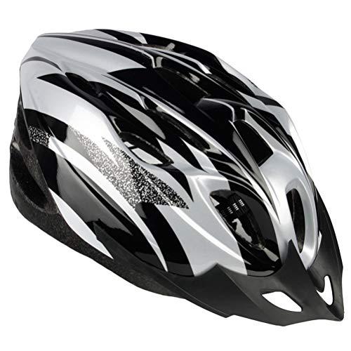 Einsgut Casco Bici Uomo e Donna EPS Body + PC Shell Integrato Forma MTB Casco con Casco Bici 20 Fori (Argento)