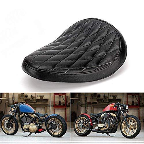 Sliver 3Molle dei sedili posteriori in acciaio Montaggio Molle cilindriche del motociclo Montaggio del seggiolino Harley Chopper Bobber