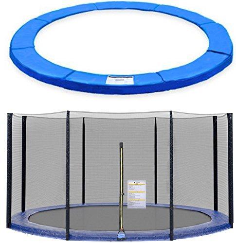 ULTRAPOWER SPORTS Filet de Sécurité et Coussin de Protection de Ressorts pour Trampoline avec Diamètre 244cm 305cm 366cm 397cm 6/8 Barres - (Noir, 244cm 6barres)