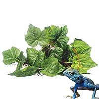 観葉植物 爬虫類 両生類 ケージ飾り 屈曲可能 人工藤 トカゲ 葡萄木 爬虫類人工ジャングル藤
