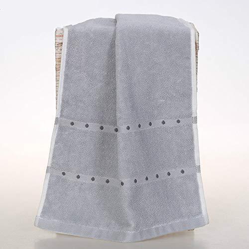 CMZ Toalla de Limpieza doméstica Adultos, Toalla de algodón Simple y Absorbente, Toalla de Lunares de algodón Suave (34x80 cm)