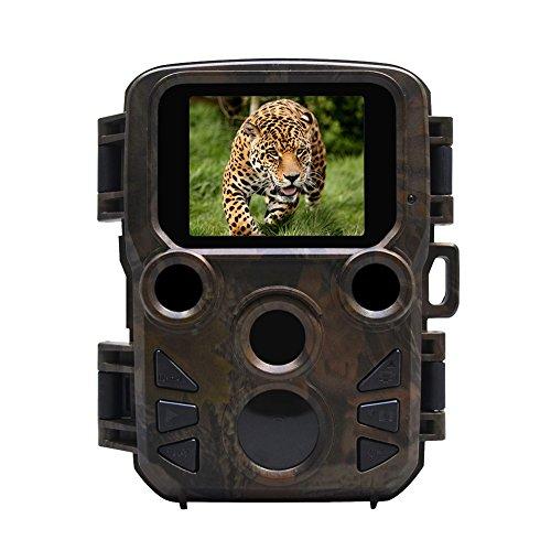Tabanlly 12mp 1080p Nachtsicht-Jagdkamera Wildkamera wasserdichte Rückfahrkamera Wild Hunter-Kamera Infrarot-LEDs Reichweite bis zu 65 Fuß Fotofallen (Nicht im Lieferumfang enthalten)