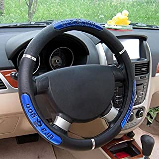 Rayauto Synthetic Leather Reflective Dragon Steering Wheel Cover -Odorless, Cooler Hands in Summer, Warmer Hands in Winter (Blue)