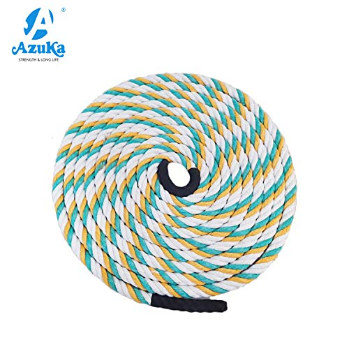AZUKA® Ultimate Fitness Strength Training Battle Rope 1.5 inch 50ft (Multicolour)
