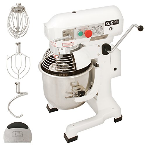 KuKoo Gastro 15L Planetenrührmaschine Spiral Rührmaschine Teigknetmaschine Knetmaschine Rührwerk Küchenmaschine Gratis Knetaufsätze + Teigschaber