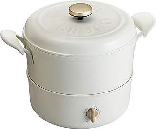 BRUNO ブルーノ マルチグリルポット ホワイト White 白 おすすめ おしゃれ かわいい これ1台 蓋 ふた付き 温度調節 洗いやすい 3人 4人用 揚げ物 フライ BOE065-WH