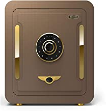 Security Electronic Password Safe Home Small Safe Anti-Theft Office Wall-Mounted Mini Safe Alarm Safe (Color : Brown, Size...