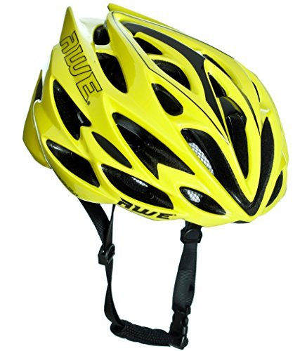 AWE AWESpeed - Casco de ciclismo para hombre, color neón (56 – 58 cm)