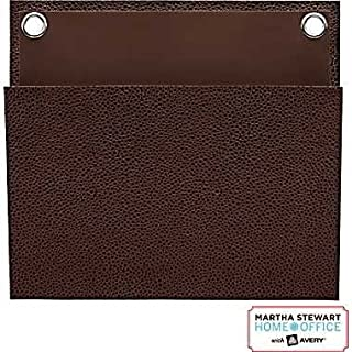 Martha Stewart Home Office with Avery Small Shagreen Pocket Brown 8in x 7- 1-4in