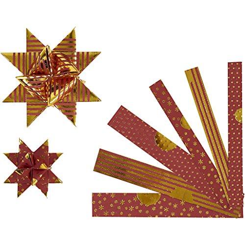 Papierstreifen für Sterne, B: 15+25 mm, D: 6,5+11,5 cm, Copenhagen, 48Stck.
