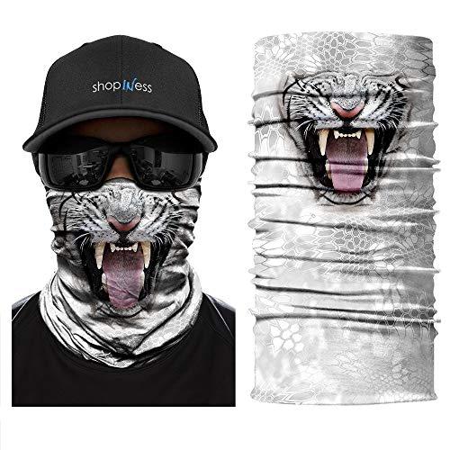 ShopINess Scaldacollo Multifunzione - Tigre Bianca